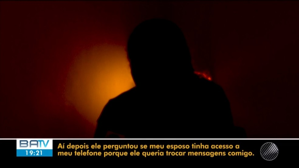 Mulher disse que homem a abraçou a força e que tentou beijá-la em Feira de Santana — Foto: Reprodução/TV Subaé