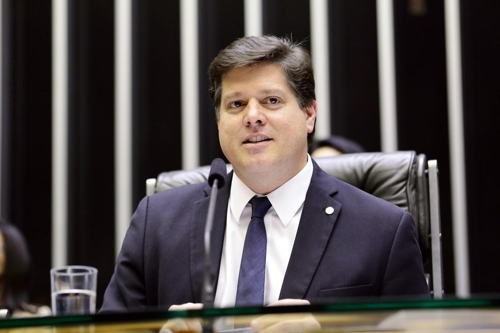 O deputado Baleia Rossi (MDB-SP) no plenário da Câmara dos Deputados em abril de 2019 — Foto: Michel Jesus/ Câmara dos Deputados