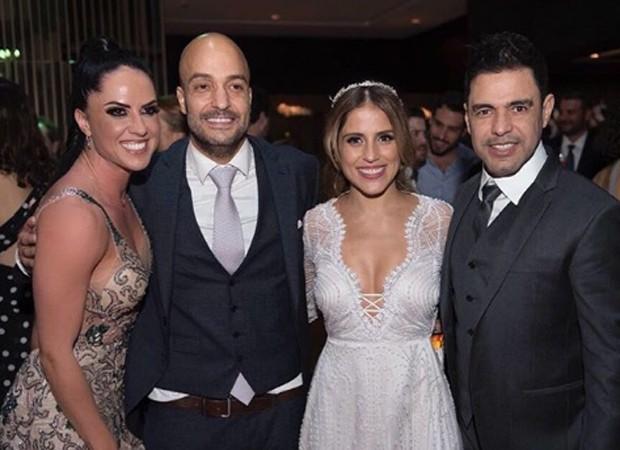 Graciele Lacerda, Leonardo Lessa, Camilla Camargo e Zezé Di Camargo (Foto: Reprodução/Instagram)