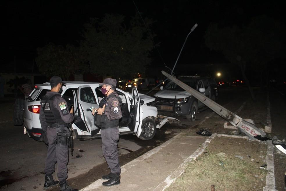 Suspeitos de assalto morrem em confronto com a PM em Mossoró, no Oeste potiguar — Foto: Ismael de Sousa