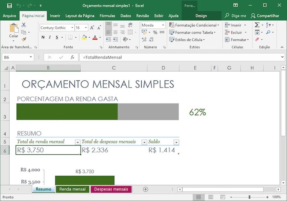 Planilha pode ser editada livremente com o Microsoft Excel — Foto: Reprodução/Helito Bijora
