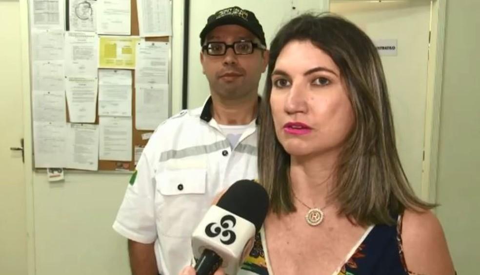 Regiane comemorou retorno do marido ao trabalho e agradeceu aos amigos e familiares pelo apoio (Foto: Reprodução/Rede Amazônica Acre)
