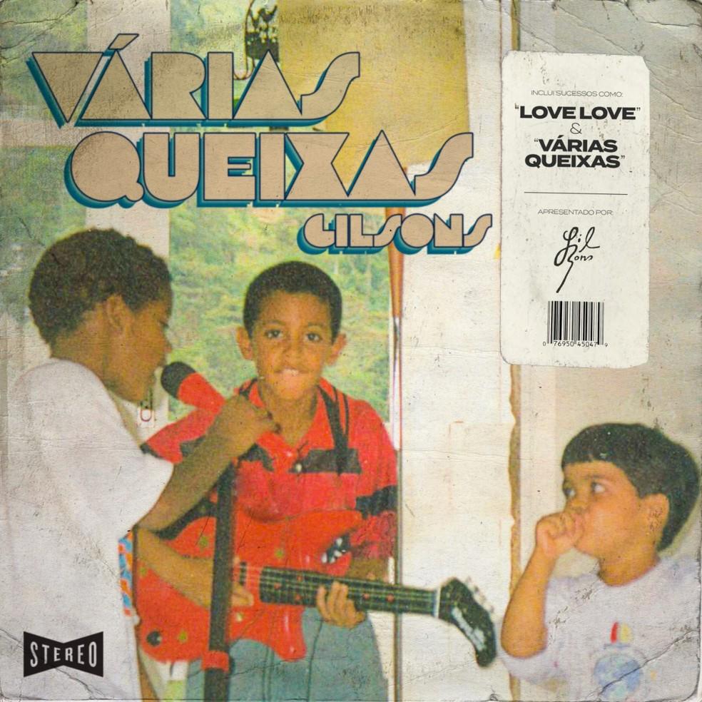 Capa do EP 'Várias queixas', do trio Gilsons — Foto: Divulgação