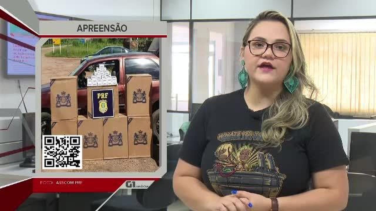 G1 em 1 minuto-AC: PRF apreende mais de 3,7 mil maços de cigarros contrabandeados