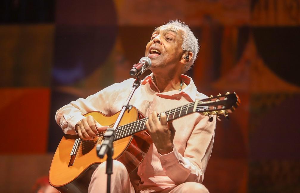 Gilberto Gil na estreia carioca do show 'OK OK OK' em junho de 2019 — Foto: Ricardo Nunes / Vivo Rio