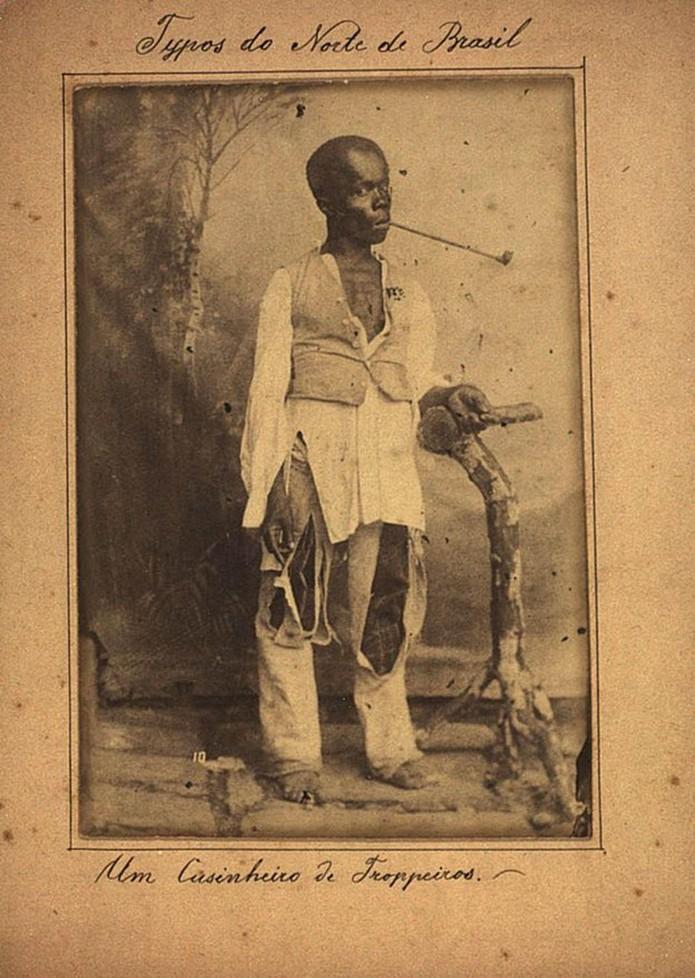 Tráfico interprovincial criou fluxo de escravizadoss do Norte e Nordeste para os cafezais do Sudeste — Foto: Acervo Biblioteca Nacional