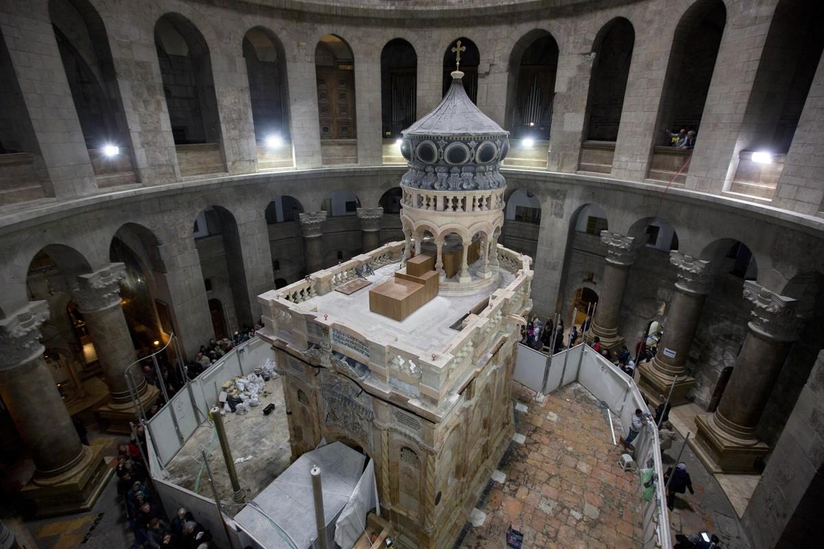Santo Sepulcro: restauração do túmulo de Jesus é concluída