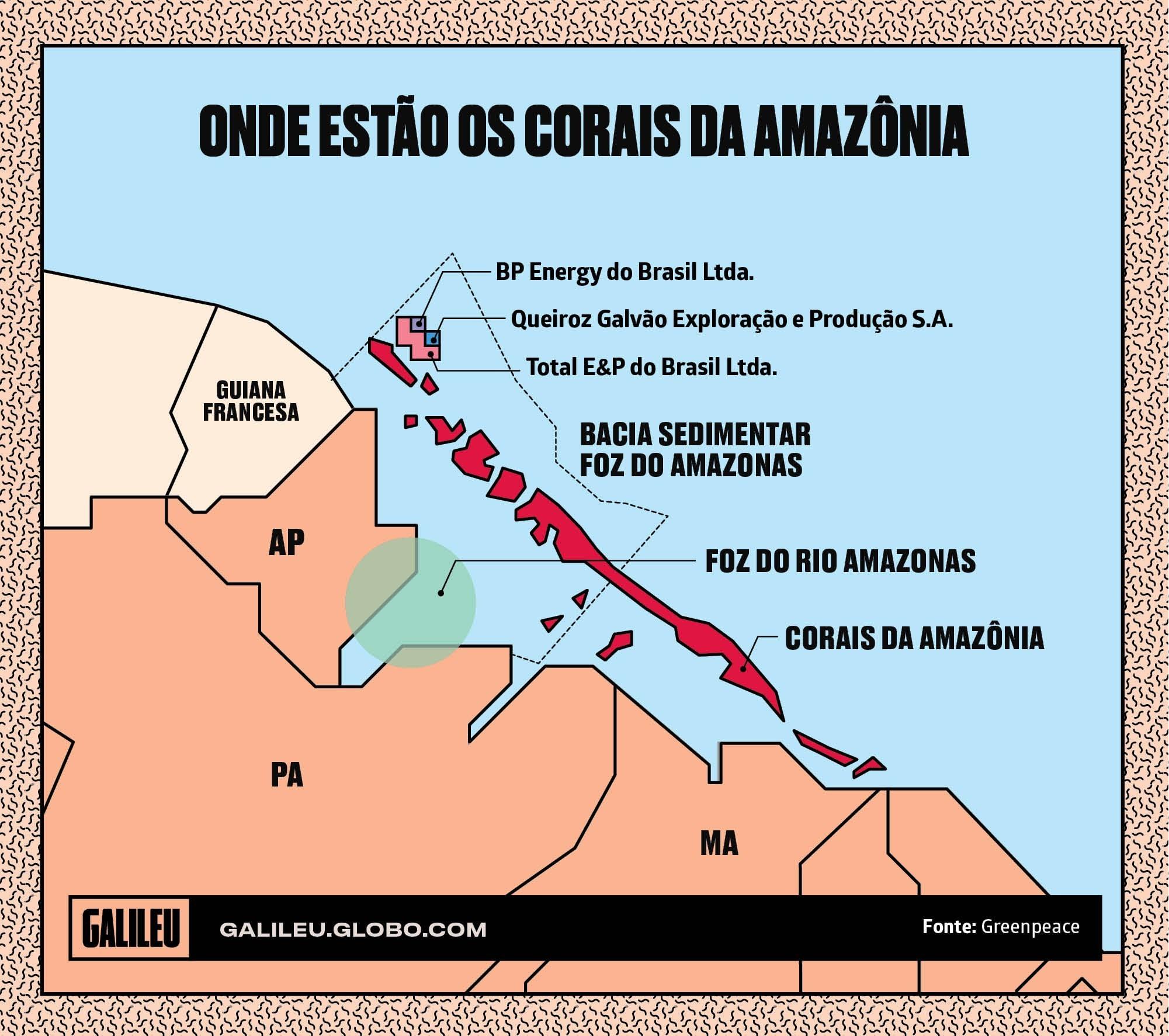 Mapa dos Corais da Amazônia (Foto:  )