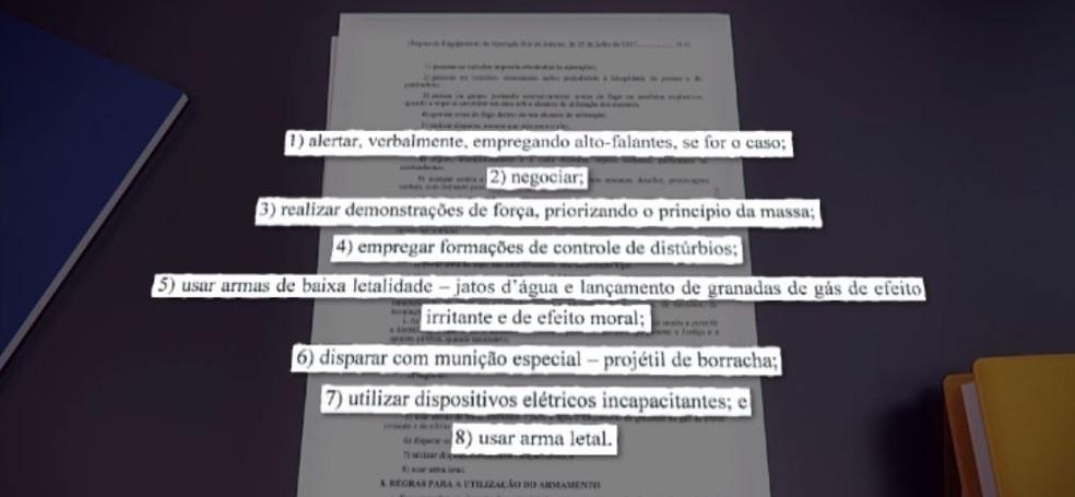 Exército tem manual de conduta para usar nas operações no Rio (Foto: Reprodução/TV Globo)