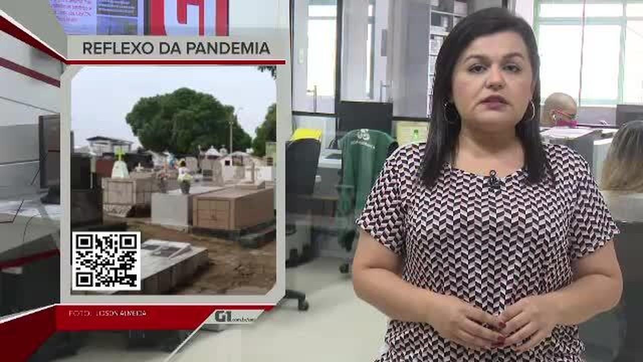 G1 em 1 Minuto - AC: nº de visitantes em cemitérios de Rio Branco cai quase 70%