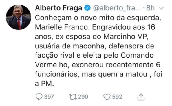 Deputados pedem que PGR investigue parlamentar que divulgou fake news sobre Marielle Franco