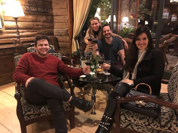 Matheus, Paula Aires, Lethicia Bronstein e Frederico Pompeu (Foto: Arquivo Pessoal)