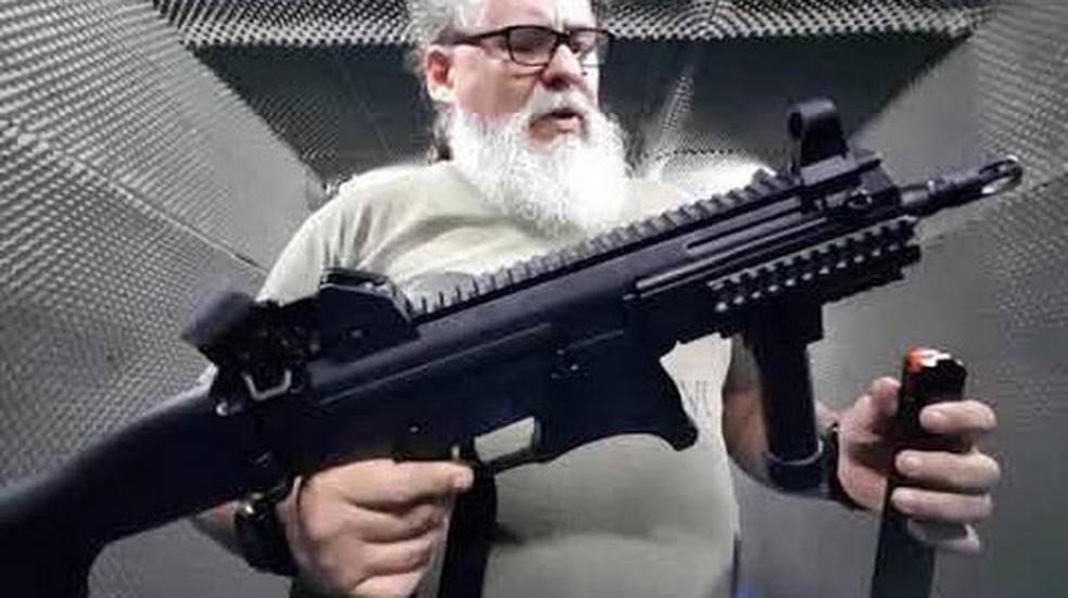 O instrutor Flávio Pacca, um dos conselheiros na área de segurança do governador eleito Wilson Witzel — Foto: Reprodução