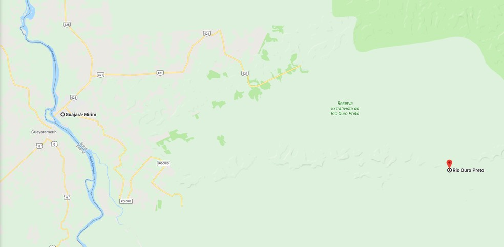 Região em que Francisco Pereira desapareceu no dia 18 de novembro — Foto: Google Maps/ Reprodução