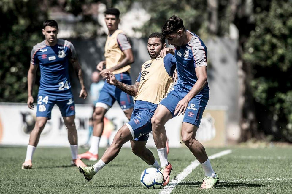 Yuri Alberto em jogo-treino contra o sub-23 — Foto: Ivan Storti/Santos FC