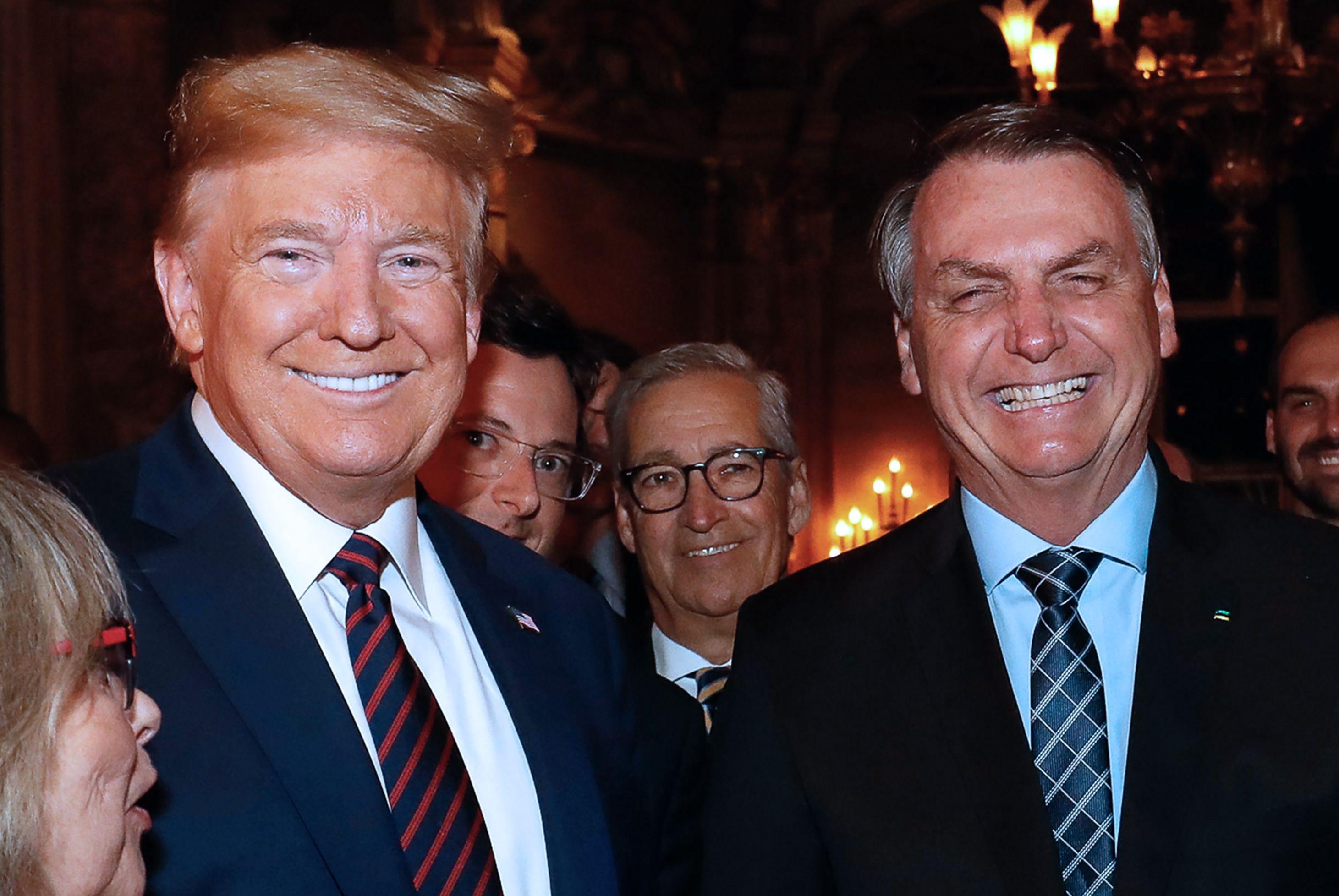 Bolsonaro e Trump durante visita do presidente brasileiro aos Estados Unidos em março deste ano