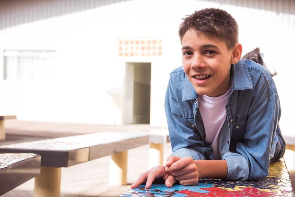 Murilo tem autismo severo e dificuldade na fala. — Foto: Fernanda Chiminello
