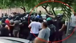 Vídeo mostra homem atirando em ato com Cid (Reprodução/TV Globo)
