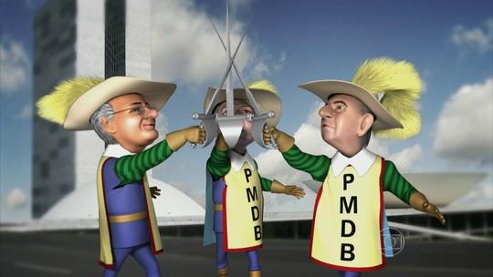 Os Três Mosqueteiros do PMDB dão o seu grito de guerra