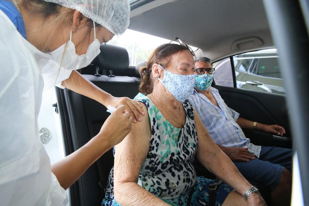Ao todo, 67 municípios já aplicaram todas as doses recebidas. — Foto: José Leomar/SVM