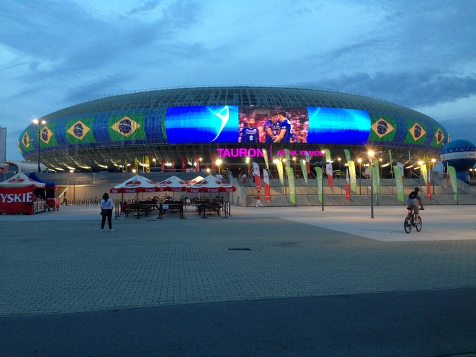 Tauron Arena Cracóvia fase final Liga Mundial de vôlei (Foto: Danielle Rocha)