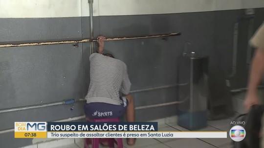 Polícia Militar prende em Santa Luzia trio suspeito de roubar salões de beleza
