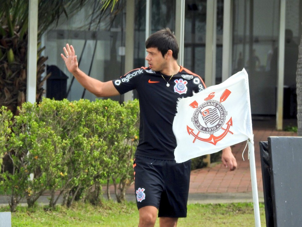 Romero está recuperado de entorse e será titular contra o São Paulo — Foto: Bruno Cassucci