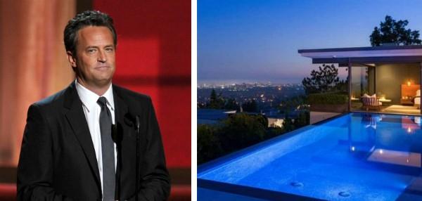 A mansão vendida pelo ator Matthew Perry por mais de 40 milhões de reais (Foto: Getty Images/Divulgação)