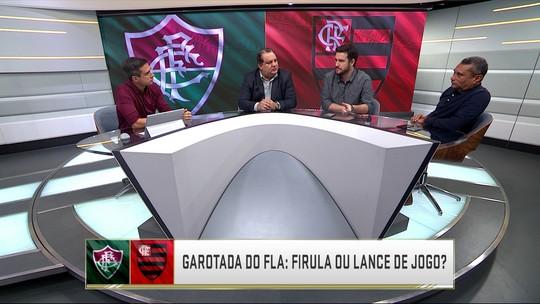 Comentaristas debatem os dribles dos garotos do Flamengo contra o Fluminense