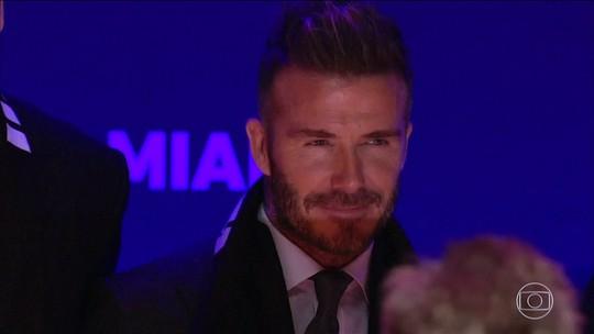Agora cartola, Beckham se declara ao Brasil e vê Neymar no mesmo nível de Messi e CR7