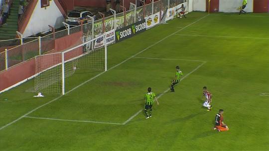 Veja os gols de Villa Nova 1 x 1 América-MG pelo Campeonato Mineiro