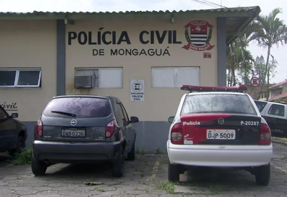 Caso foi encaminhado para a Delegacia Sede de Mongaguá, SP (Foto: G1)