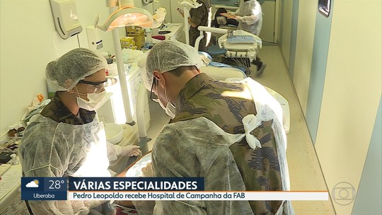 Pedro Leopoldo, na Grande BH, recebe hospital de campanha da FAB