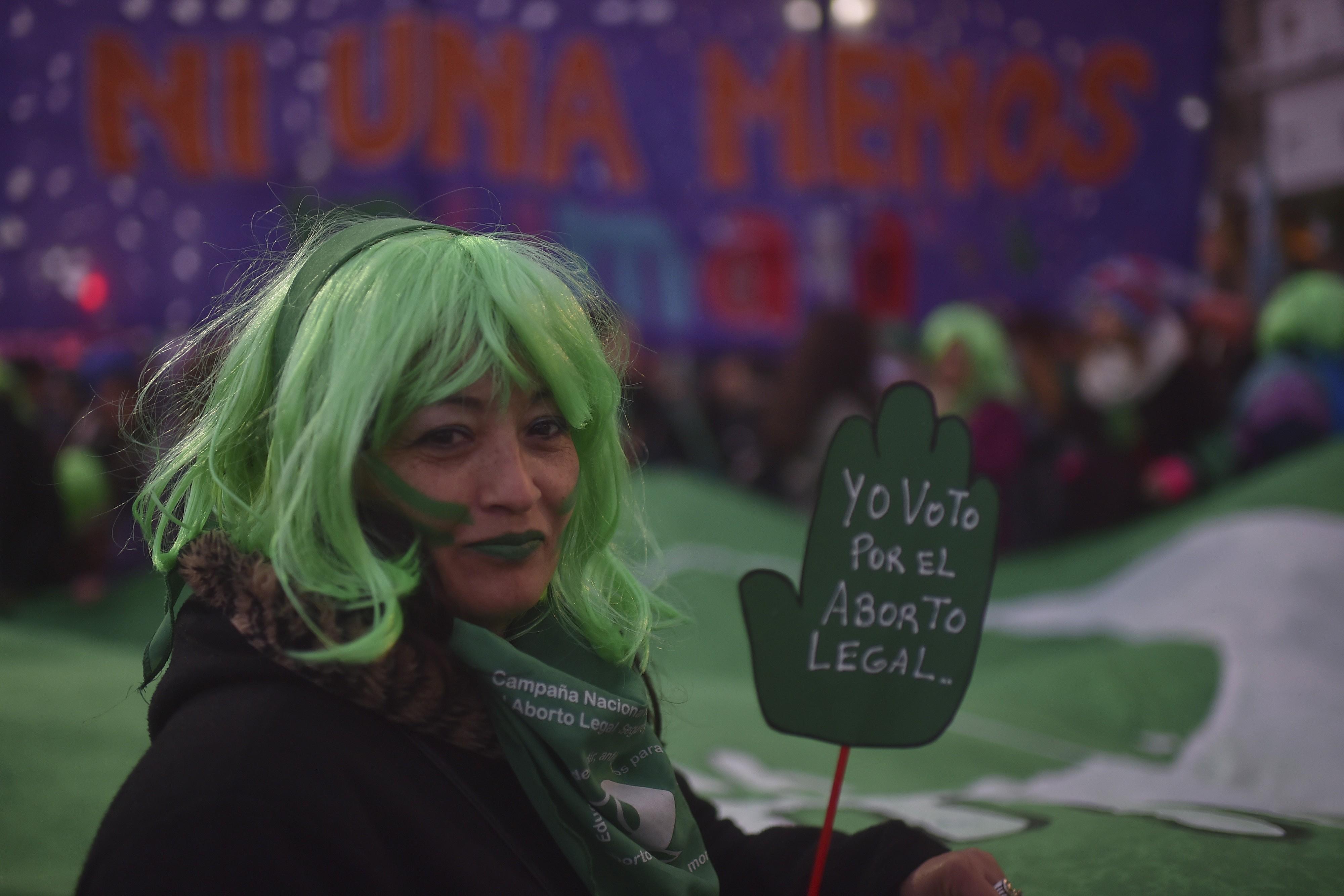 Manifestação pela legalização do aborto na Argentina (Foto: Getty Images)
