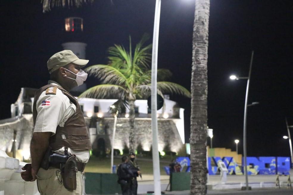 Governo prorroga toque de recolher e proibição de eventos em toda a Bahia até 26 de abril — Foto: Divulgação/SSP