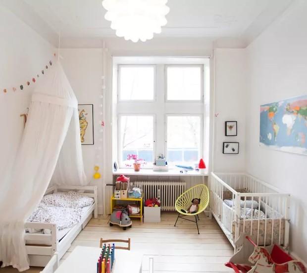 Frederiksberg, Dinamarca: esse quarto de bebê abriga até duas crianças, e tem diversas opções de brinquedos (Foto: Reprodução / Airbnb)