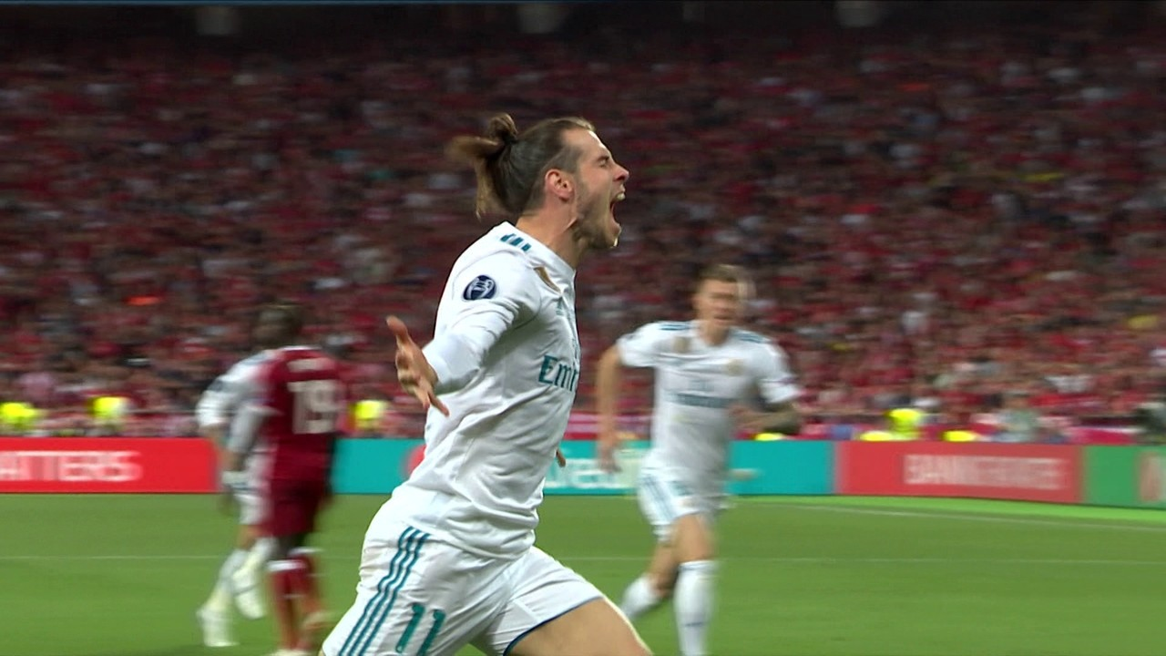 Gol do Real Madrid! Marcelo cruza e Bale marca de bicicleta, aos 18' do 2º tempo