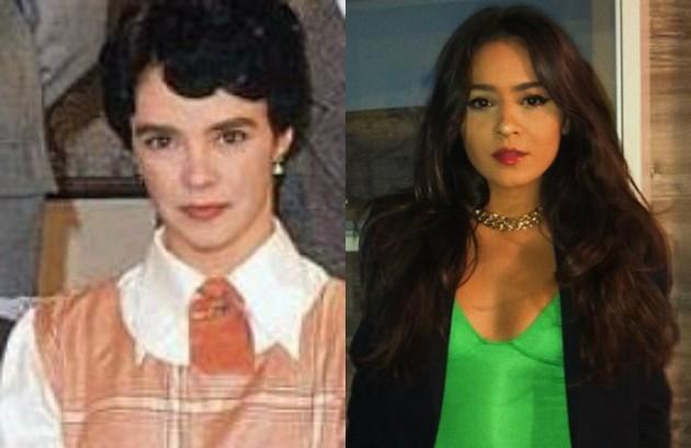 A Giullia Buscacio caberá o papel de Isabel. Luciana Braga viveu a filha de Lola na novela do SBT (Foto: Divulgação / Reprodução)