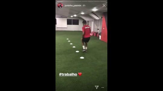 Juninho volta aos treinos com bola e está liberado para jogar pelo Sport