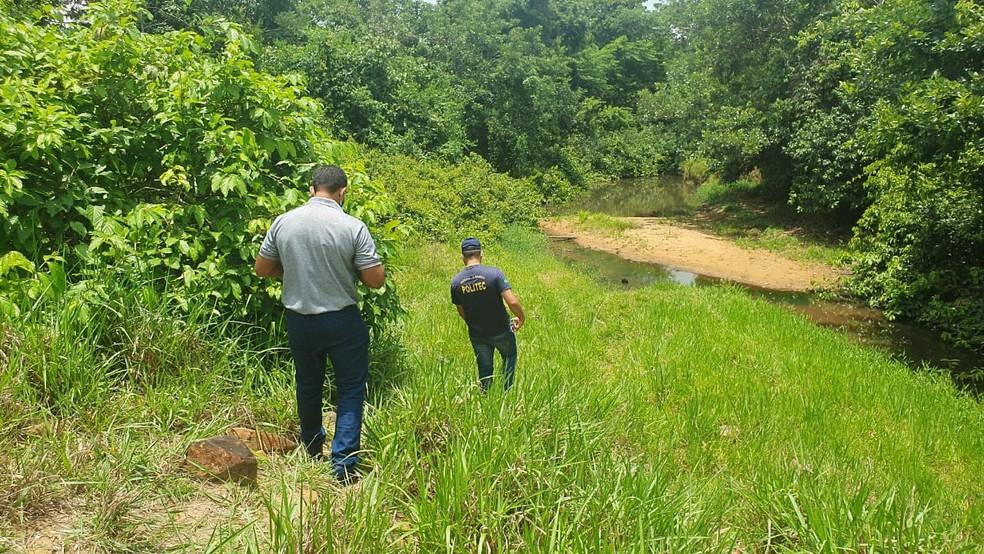 Adolescente foi encontrado morto em propriedade rural de Rondônia nesta terça-feira (27).  — Foto: PM/Divulgação