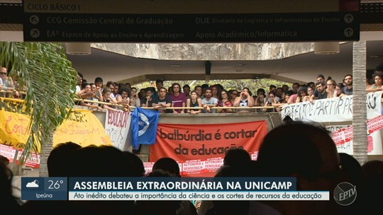 Em assembleia inédita, Unicamp aprova moção em defesa da educação, ciência e autonomia