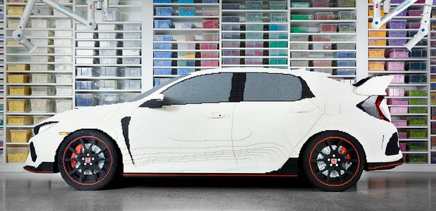 Honda Civic Type R de Lego (Foto: Divulgação)