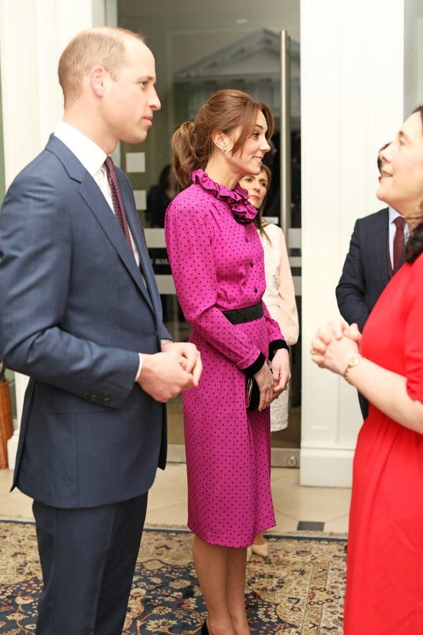 DUBLIN, IRELAND - MARCH 04: Prince William and Catherine Duchess of Cambridge attend an event at the Museum of Literature on March 04, 2020 in Dublin, Ireland. (Julien Behal/Pool/Samir Hussein/WireImage) (Foto: WireImage)