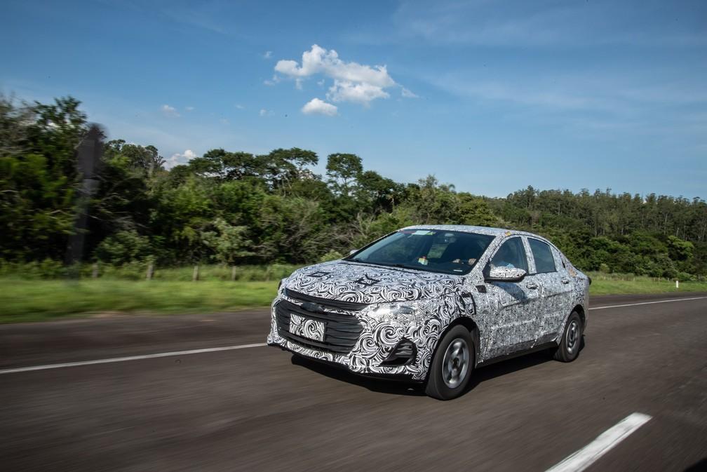 Futura geração do Prisma está em desenvolvimento no Brasil — Foto: Chevrolet/Divulgação