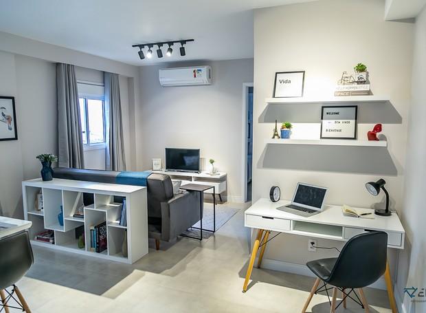 Projeto de Luiza Altman para um apartamento do Airbnb que foi alugado em 10 dias (Foto: Luiza Altman / Divulgação)