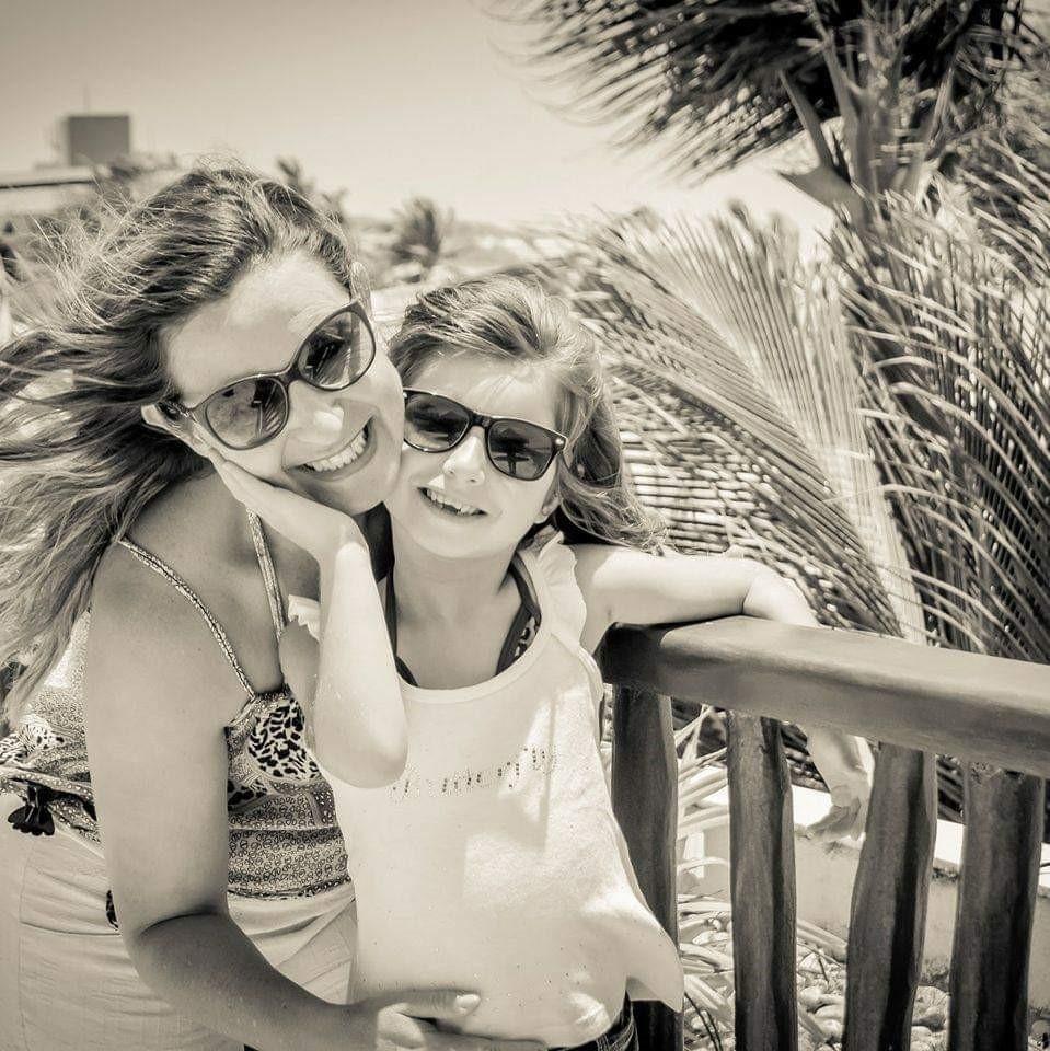 Kátia e a filha, Luiza (Foto: Acervo pessoal)