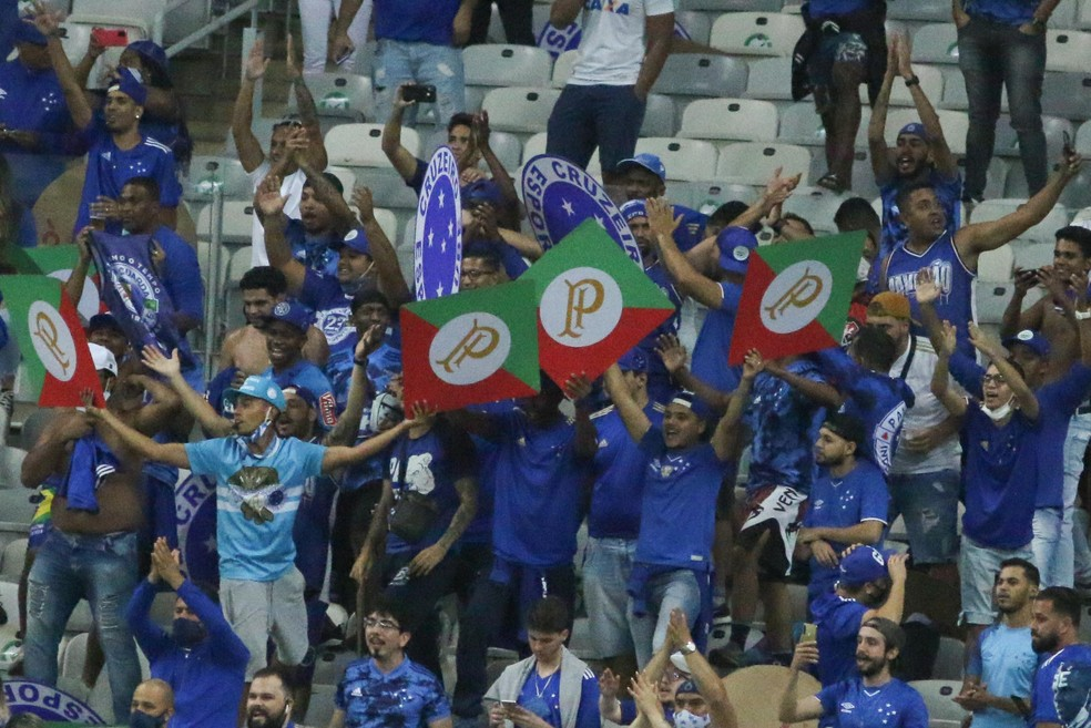 Torcida do Cruzeiro esteve no Mineirão diante do Confiança  — Foto:     Fernando Moreno/AGIF