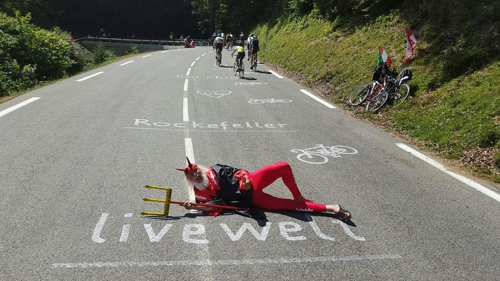 Diabo do Tour de France vem ao Brasil para o L'Étape 2019 — Foto: Divulgação/@disonisenft
