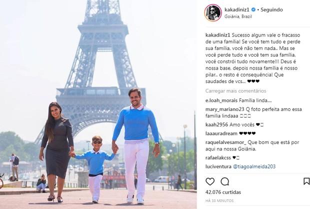 Simone com o marido, Kaká Diniz e o filho, Henry (Foto: Reprodução/Instagram)