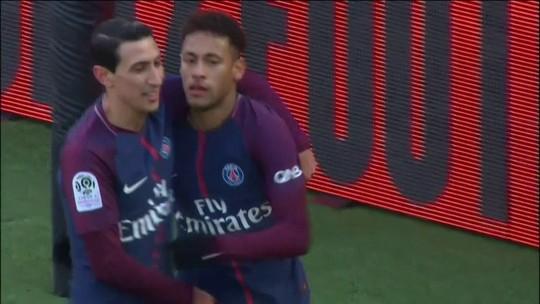 Pintura de Neymar, Cavani duas vezes... os gols de PSG 5 x 2 Strasbourg